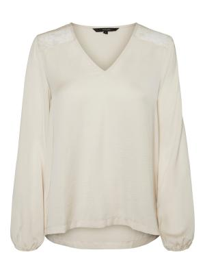 VMSANDRA LACE LS V-NECK TOP WV logo