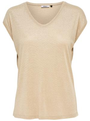 ONLSILVERY S-S V NECK LUREX TO 190260 Gold Col