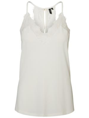 VMMILLA S-L LACE TOP NOOS 175598 Snow Whi