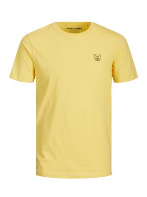 JJEDENIM LOGO TEE SS O-NECK  N 177747007 Lemon