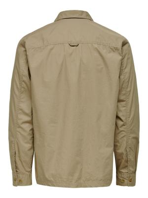 ONSAIDEN LS LIGHT OVERSHIRT 202231 Chinchil