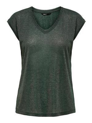 ONLSILVERY S-S V NECK LUREX TO logo