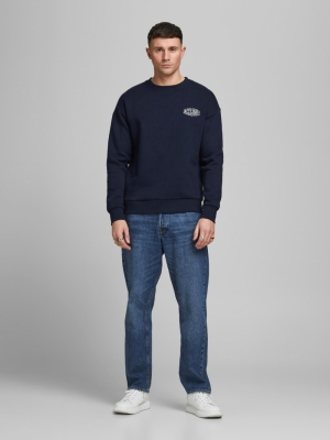 JORPRESTON SWEAT CREW NECK LTN 175876001 Navy